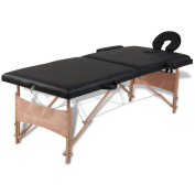 Anself Foldable Massage Table Facial Bed Wooden Frame with Carrying Case for Spa Salon Beauty Tool