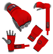 Hand Wrap Red Padded boxing inner gloves Boxing MMA UFC Adult Quick wraps Kids hand wrap