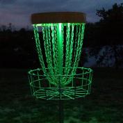 Set of 2 LED Lights for Disc Golf Basket, Multi Coloured, Remote Controlled, Waterproof, Basket Not Included