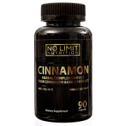 No Limit Nutrition Cinnamon Herbal Complex Capsules With Antioxidants to Support Immune System, Balance Blood Sugar Levels, Healthy Heart, Skin & Dental Health