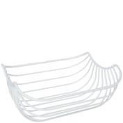 laroom 13492 - Fruit Basket Metal Minimal, White