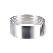 VALINK 15cm - 20cm Adjustable Cake Mould Stainless Steel Ring Cake Slicer Baking Tool Kit Set Mousse Mould Slicing