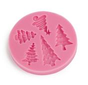 Christmas Tree Silicone Fondant Mould Cake Decor Chocolate Mould Icing Sugar Craf