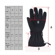 MCTi Waterproof Winter Ski Gloves Warm Snowboard Cycling Snowmobile Thermal Gloves 3M Thinsulate Insulation Zipper Pocket