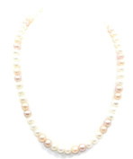 Freshwater Pearl Multi-colour 6 mm Necklace 14k Yellow Gold Spring Lock