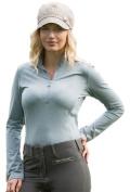 Goode Rider Ladies L/S Ideal Show Shirt Teal Heather Medium