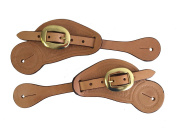 Spur Straps Basket Stamp Tooling Shaped Single Ply Leather Adult Size Russet