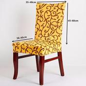Elegant Spandex Elastic Stretch Chair Seat Cover Computer Dining Room Wedding Kitchen Decor #Yellow+Black