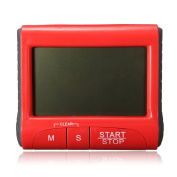 LCD Digital Magnetic Kitchen Cooking Timer Count Down Up Clock Loud Alarm #Red