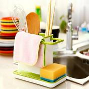 Kitchen Storage Racks Organiser Cabinet Sink Storage Space Saver #Green