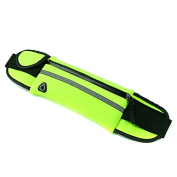 Sports Running Waist Bag Pack Unisex Phone Pouch Anti-Theft Security Phone Case Storage #Green