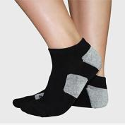 Professional Fitness Yoga Socks Breathable Anti-slip Rubber Dots Running Sport Short Socks #Black
