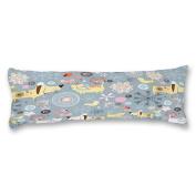 Yiuejiu Cute Cartoon Animals Dog Cat Bird Doodle Body Pillow Cover Decorative Pillowcase 50cm x 140cm