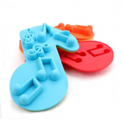 Ewandastore 2pcs Note Ice DIY Mould Silicone Cake Mould Chocolate Jelly Maker Mould Baking Tools