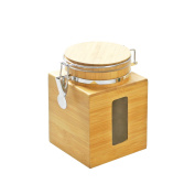 FURINNO FK8959 Dapur Bamboo Tight Canister, Natural