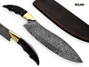RK-2119 Style Damascus Steel Chef Knife – beutifull bull hurn Bone Handle with Brass bolster