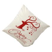 "LOVELYIVA Christmas Deer Sofa Bed Pillow Case Home Decoration Festival Cushion Cover 17.717.7"""