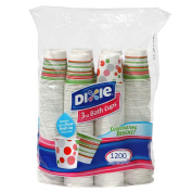 Dixie – Disposable Bathroom Cups, Coordinating Design 90ml - 1200 Cups