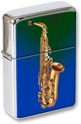 Saxophone Flip Top Lighter in a Gift Tin