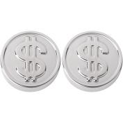 Reusable Ice Cubes Whisky Dollars Grey Chrome Set of 2 Sun Lounger 36-2q-007