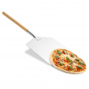 Original Pizza Shovel Metal Square 80 x 31 cm Pizza Server for Pizza Oven with a long wooden handle, can also be used as Oven Pizza Shovel and Bread Shovel