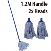 Marko Homewares Cleaning Floor Cloth Strip Mop Cleaner Sweeper Long Handle 1.2M Wood Tile Dry