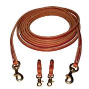 Berlin Custom Leather Reins Hermann Oak Draw Brass Hardware H800