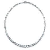 Bling Jewellery Bridal Graduated CZ Classic Tennis Necklace 41cm