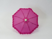 46cm Doll Sized Super Cute Magenta Umbrella for 46cm Dolls, Handle Loop, Open & Closes, Perfect Toys Fits for American Girl Dolls, Gotz, Our Generation Madame Alexander Miniature Umbrella