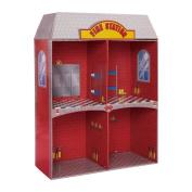 Adventure Fire Station Dollhouse, Wooden Dollhouse, Colour
