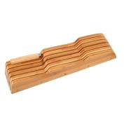 FURINNO Dapur Bamboo In Drawer Knife Holder, Natural