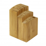 FURINNO Dapur Bamboo Knife Block, Natural