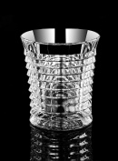 Huappo Crystal Tumbler Glasses Barware Lead Free Cup for Home Bar Drinking Whiskey Wine Vodka 260ml, Set of 6