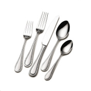 International Silver 5201095 American Bead 102 Piece Service for 12 Flatware Set with Serve ware, Stainless Steel