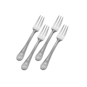 Towle Living 5201295 Palm Breeze Cocktail Fork (Set of 4), Stainless Steel