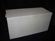 Rattan Laundry Basket / Toy Chest White 90 CM MADE IN GERMANY