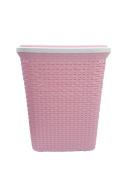Hygienic Plastic rattan 56 litre laundry Hamper High Quality
