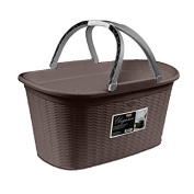 Basket laundry basket with handles Model Elegance Wicker Effect 35lt Wengè
