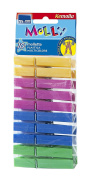 Coloured Plastic Clothes Pegs Pack of 10 Durable, Pegs for the laundry, Clothes Pegs Laundry, Set Pack of 10 Coloured Durable Plastic Clothes Pegs with Rust Proof, Art. Spring 360 Parodi