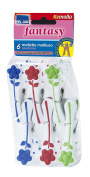 set Includes 6 clips with non-slip rubber FANTASY set of 6 Clothes Pegs Clips Pack-Spring Clips Bag with rust-Purpose Clothes Pegs High capacity, Article 364 Parodi
