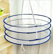 AsentechUK® Double Foldable Hanging Clothes Wind Laundry Basket Underwear Socks Drying Mesh
