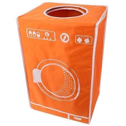 Teprovo Collapsible Laundry Basket Bin Dirt Laundry Laundry Bin, 50 Litre Clothes Fbewa of 6 Colours Orange