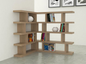 VE.ca-italy Armony Shelf Library Books in Wood design of High Quality Made In Italy In 11 Different Colours 4 cm thick Oak Rock