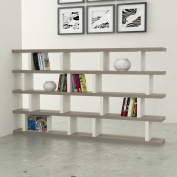 VE.ca-italy Armony Shelf Library Books in Wood design of High Quality Made In Italy In 11 Different Colours 4 cm thick ROVERE GRIGIO-LARICE