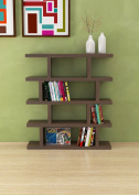 VE.ca-italy Armony Shelf Library Books in Wood design of High Quality Made In Italy In 11 Different Colours 4 cm thick walnut