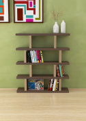VE.ca-italy Armony Shelf Library Books in Wood design of High Quality Made In Italy In 11 Different Colours 4 cm thick NOCE-ROVERE ROCK