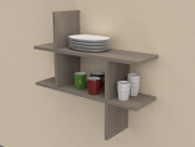 VE.ca-italy Wooden Shelf Design Melody Of High Quality Made In Italy In 9 Different Colours, 2 cm Thickness Oak Grey