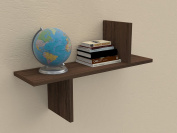 VE.ca-italy Shelf Books in Wood design of High Quality Made In Italy In 9 Different Colours, 2 cm Thickness Elegance walnut