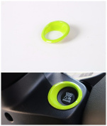 FMtoppeak Green ABS Outlet Engine Start Stop Push Button Trim Ring Cover For 14-16 Jeep Renegade