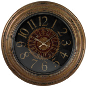 Sterling 130-003 PU/Glass Clock with Distressed Hand Painted Frame, 80cm , Alexan